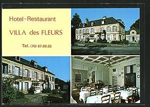 """Carte postale Bourbon-L'Archambault, Hotel-Restaurant """"Villa des Fleurs"""""""