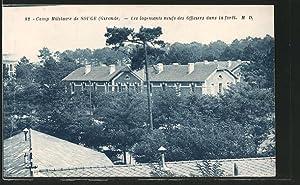 Carte postale Souge, Camp Militaire, Les logements