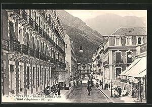 Carte postale Cauterets, Boulevard Latapie-Flurin, L'Hôtel d'Angleterre