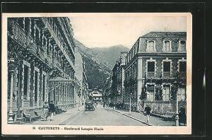 Carte postale Cauterets, Boulevard Latapie Flurin