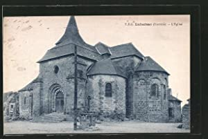 Carte postale Lubersac, L'Eglise