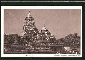 Ansichtskarte Puri, Sri Mandir, Temple of Lord