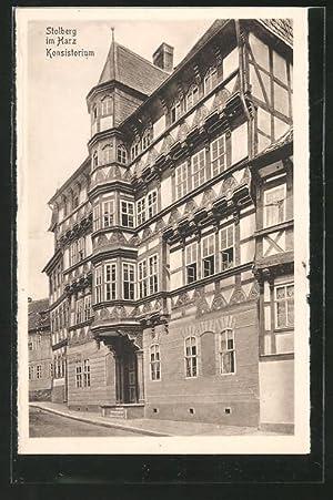 Ansichtskarte Stolberg, Partie am Konsistorium