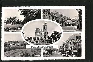 Carte postale Dol-de-Bretagne, Vue générale, Grande Rue