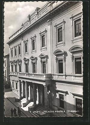 Cartolina Chieti, Palazzo Poste e Telegrafi