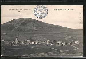 Carte postale Les Estables, vue générale et