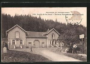 Carte postale Forêt de la Joux, Maison