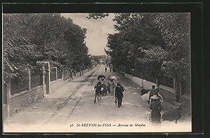 Carte postale Saint-Brévin-les-Pins, l'avenue de Mindin, des