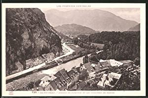 Carte postale Saint-Béat, l'avenue de Marignac et