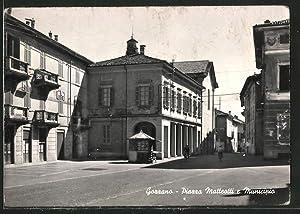 Cartolina Gozzano, Piazza Matteotti e Minicipio