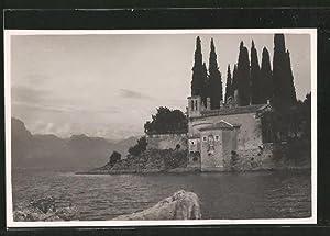 Cartolina San Vigilio, Ansicht vom Gardasee.