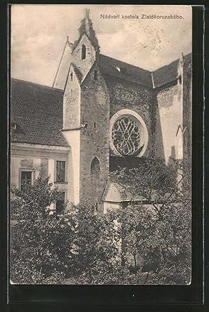 Ansichtskarte Zlata Koruna, Nadvori kostela