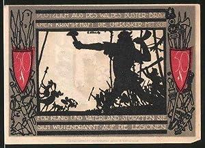 Notgeld Detmold (Lippe) 1920, 50 Pfennig, Stadtwappen,