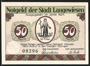 Notgeld Langewiesen in Thüringen 1921, 50 Pfennig,
