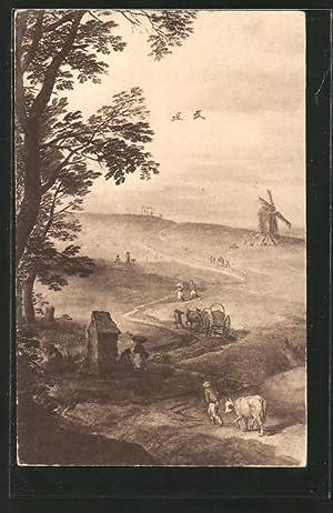 Künstler-Ansichtskarte Kunstwart Nr.178: Ausschnitt aus einem Landschaftsbild,