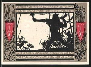 Notgeld Detmold (Lippe) 1921, 50 Pfennig, Stadtwappen,
