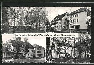 Ansichtskarte Bad Mingolsheim, Kurhaus Gantner, Cafe im