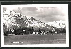 Ansichtskarte Judenstein, Ortsansicht mit Kirche