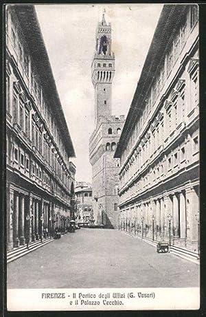 Cartolina Firenze, Il Portico degli Uffizi e