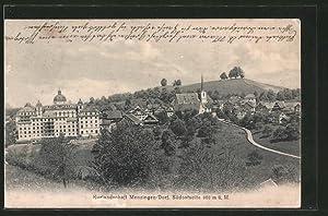Ansichtskarte Menzingen-Dorf, Südostansicht des Ortes