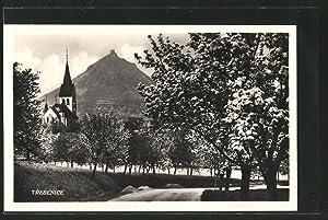 Ansichtskarte Trebenice, Blick auf die Kirche