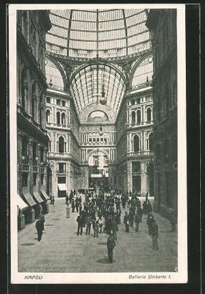 Cartolina Napoli, galleria Umberto I.