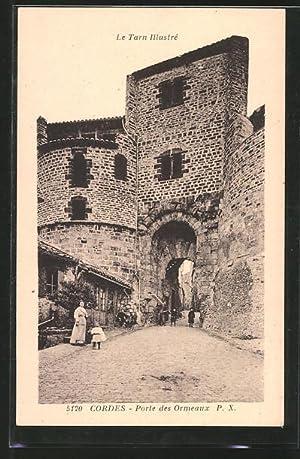 Carte postale Cordes, porte des Ormeaux