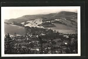 Ansichtskarte Nieder-Lindewiese, Ortsansicht im Winter aus der