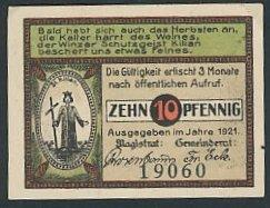 Notgeld Langewiesen in Thüringen 1921, 10 Pfennig,