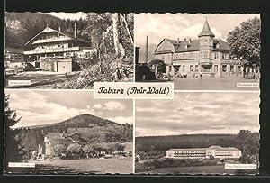 Ansichtskarte Tabarz, Schweizerhaus, Deutscher Hof, Hotel Grenzwiese,