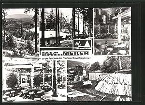 Ansichtskarte Sosa, Konsum-Gaststätte Meiler an der Talsperre