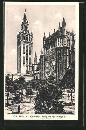 Postal Sevilla, Catedral, Patio de los Naranjos