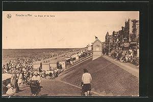 Ansichtskarte Knocke-sur-Mer, la digue et les bains