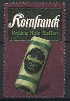 """Künstler-Reklamemarke Ludwig Hohlwein, """"Kornfranck""""-Roggen-Malz-Kaffee, Packung Kaffee"""