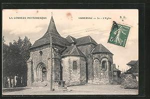 Carte postale Lubersac, La Correze Pittoresque, L'Eglise