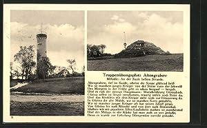 Ansichtskarte Altengrabow, Truppenübungsplatz mit Marschlied