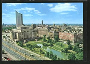 Ansichtskarte Leipzig, Blick auf die Stadt mit