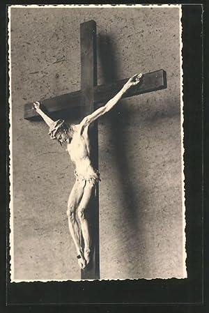 Ansichtskarte Jesus am Kreuz, Kruzifix