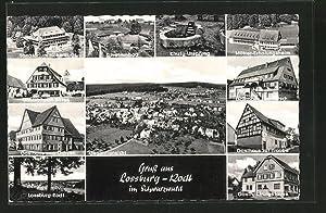 Ansichtskarte Lossburg-Rodt, Gasthaus zum Ochsen, Gasthof zum