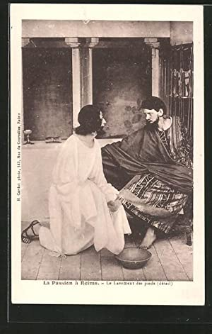 Ansichtskarte Reims, Passionsspiele, Le Lavement des pieds