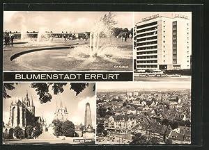 Ansichtskarte Erfurt, Hotel Tourist am Juri-Gagarin-Ring, IGA-Gelände