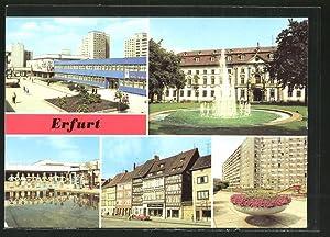 Ansichtskarte Erfurt, Wohngebiet Riethstrasse, Juri-Gagarin-Ring