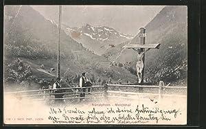Ansichtskarte Nünalphorn / Melchthal, Panoramablick am Flurkreuz