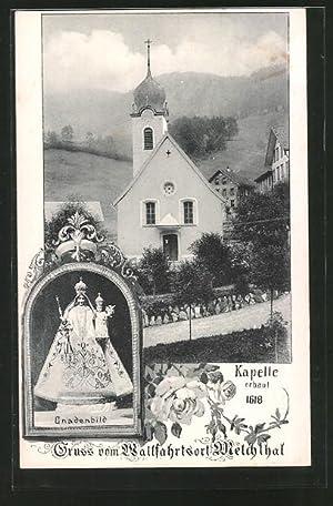 Ansichtskarte Melchthal, Strassenpartie an der Kapelle, Gnadenbild