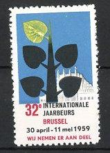 Reklamemarke Brussel - Brüssel, 32. Jaarbeurs 1959,