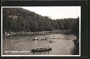 Ansichtskarte Bad Liebwerda / Lazne Libverda, Kahnpartie