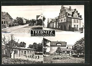 Ansichtskarte Trebnitz, Siedlung, Kindergarten, Artur-Görlitz-Platz, Gemeindehaus