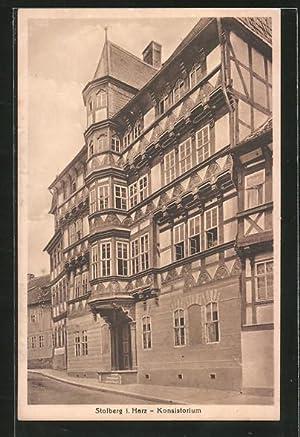 Ansichtskarte Stolberg, Strasse am Konsistorium
