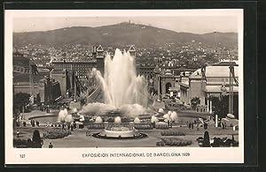 Ansichtskarte Barcelona, Exposicion Internacional 1929, Magic Fountain,
