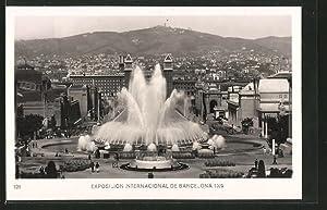 Ansichtskarte Barcelona, Exposicion Internacional 1929, Fuente Mágica,
